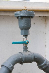 Water valve set in the building, Control water flow by valve,
